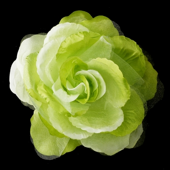 * Green Flower Hair Clip 483 (1 left)