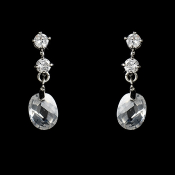 Silver-Clear Crystal and Cubic Zirconia Earrings E 3784