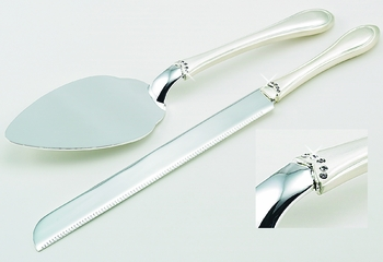 Wedding Cake Server Set with Crystals CS 25589