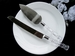 Wedding Cake Server Set with Crystal Acrylic Handle Accented with Gold CS 908