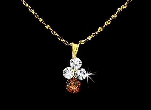 Necklace Earring Set NE 110 Gold Brown