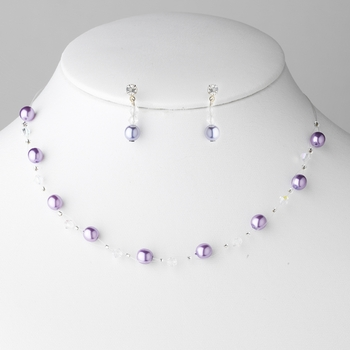 * Necklace Earring Set 207 Purple **4 Left**