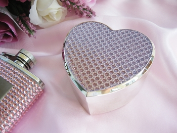 Pink Crystal Glitter Heart Jewelry Box 83623