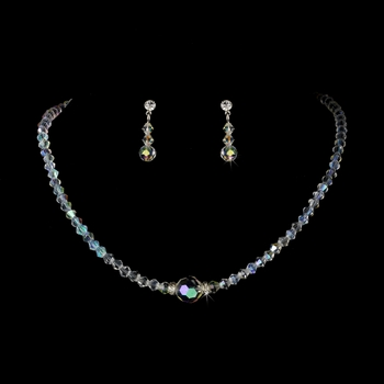 * AB Swarovski Crystal Bridal Jewelry Set NE 234