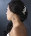 Lovely Silver Pearl & White or Ivory Flower Bridal Comb 8258
