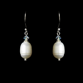 Freshwater Pearl & Crystal Earrings E 8205
