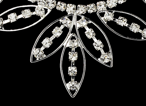 * Necklace Earring Set 8300 Silver Clear