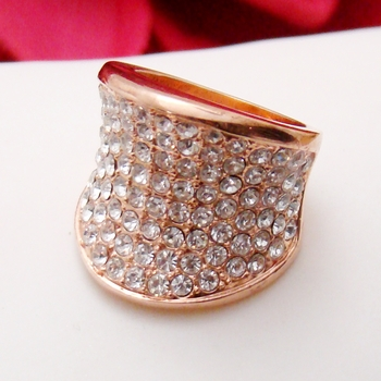 Pink Cubic Zirconia Ring 34826 ( Size 6 in stock )