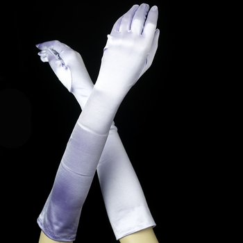 Satin Bridal Bridesmaid Gloves - Lilac