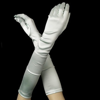 Satin Bridal Bridesmaid Gloves - Mint