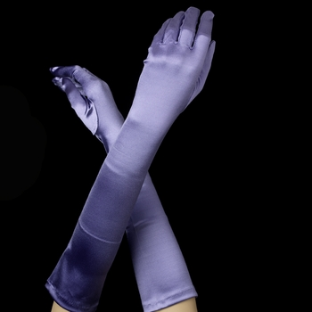 Satin Bridal Bridesmaid Gloves - Periwinkle