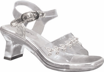 Childrens Anna Clear Shoes with Silver Accent