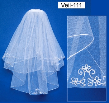 Embroidered Communion Veil