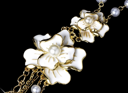 Necklace 998 Gold White