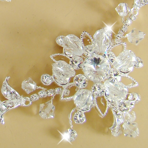 Stunning Swarovski Crystal Bridal Jewelry Set NE 7809