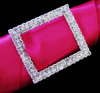Crystal Rectangular Buckle Bouquet Accent  2160