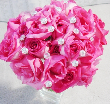 Crystal Solataire Dazzle Centerpieces - Bouquet Jewelry