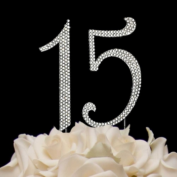 Completely Covered ~ Sweet 15 & 16 Cake Topper Set