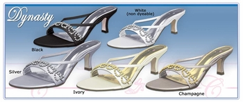 * Dynasty Evening Shoe with Rhinestones