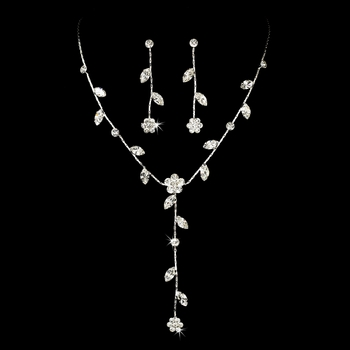 Crystal Floral Design Jewelry Set NE 71009