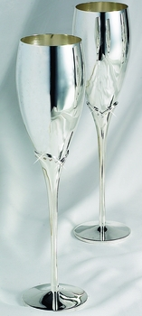 Wedding Toasting Flutes with Crystals at Stem FL 9018