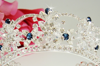 Navy Blue Accented Tiaras