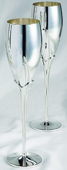 Silver Lily Wedding Toasting Champagne Flutes FL 22665