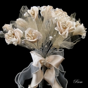 Bridal Wedding Bouquet 243 White, Rum, Ivory, Pink