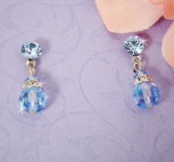 Swarovski Crystal Aqua Dangle Earring E 200