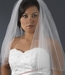 "Bridal Wedding Veil 350 E Ivory- Two Layer Elbow Length w/AB Swarovski Crystal Edge (25""x30"")"