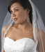 "Bridal Wedding Veil 1560 - Single layer, Elbow length (32"" long x 71"" wide on comb)"