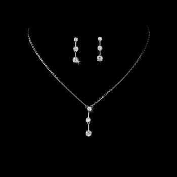 * Three Stone Cubic Zirconia Jewelry Set NE 3516