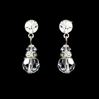 Clear Swarovski Crystal Bridal Earrings E 200