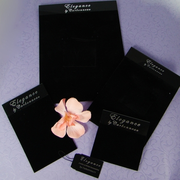 Elegant Black Velvet Jewelry Display Cards