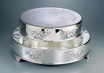 "Round Classic Wedding Cake Tableau Stand 14"" & 18"" (Style CT-5575 & CT-5576)"