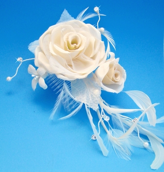 Champagne Feather Fascinator (Special Order Any Color)
