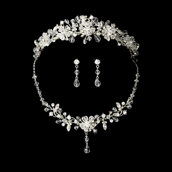 Swarovski Crystal Bridal Jewelry & Tiara Set 8003