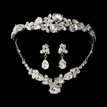 Swarovski Necklace Earring & Tiara Set NE 8314 & HP 8314