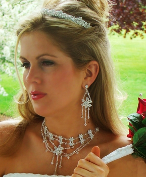 Couture Matching Jewelry & Tiara Set NE 7301 & HP 7095