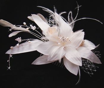 Bridal Feather Hair Fascinator (Special Order Only 6pcs)