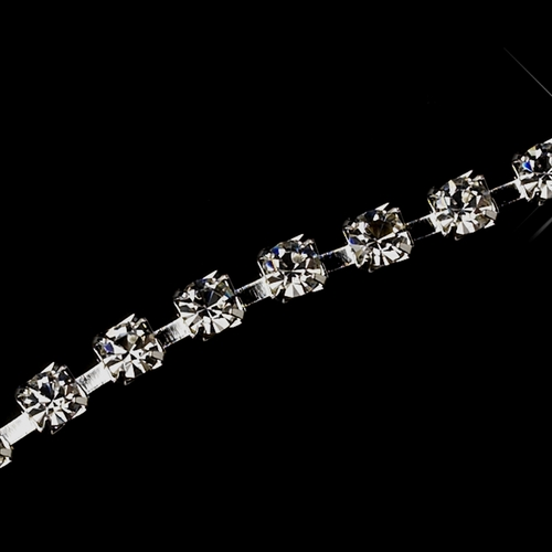 "3"" Silver Fish Hook Extender 3mm Rhinestone ***Discontinued***"
