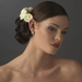 Charming Light Yellow Flower Bridal Hair Comb 4647