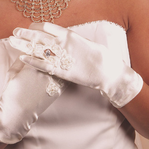 Formal or Bridal Gloves Style GL9055-2W