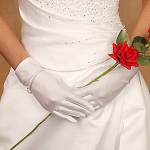 Satin Wrist Length Bridal Gloves GLSW