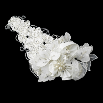 Ornate Side Accented Russian Tulle Cap Clip 9643