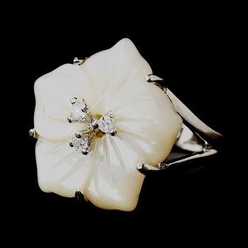 Mother of Pearl CZ Ring 2216