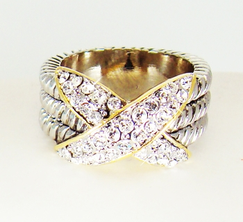 Designer Inspired Cubic Zirconia Ring