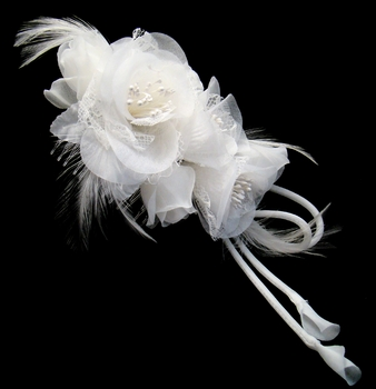 Bridal Feather Fascinator on Comb (Special Order Any Color)