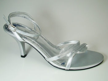 * Enzo Silver Evening Shoes***Discontinued****