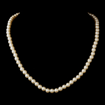 Gold Ivory Pearl Necklace 6001